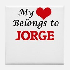 My heart belongs to Jorge Tile Coaster