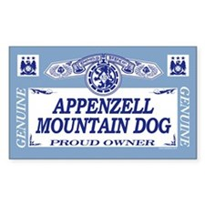 APPENZELL MOUNTAIN DOG Rectangle Decal