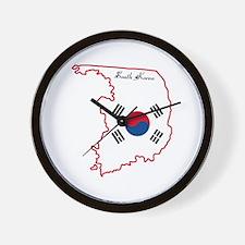Cool South Korea Wall Clock