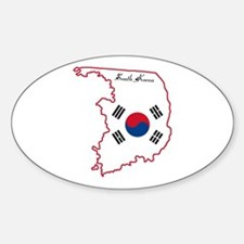 Cool South Korea Oval Decal