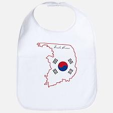 Cool South Korea Bib