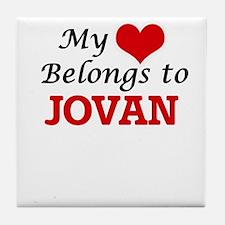 My heart belongs to Jovan Tile Coaster