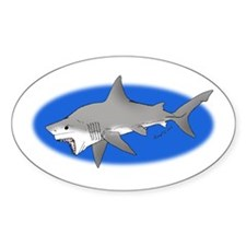 Great White Shark Oval Decal