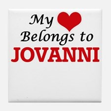 My heart belongs to Jovanni Tile Coaster