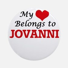 My heart belongs to Jovanni Round Ornament