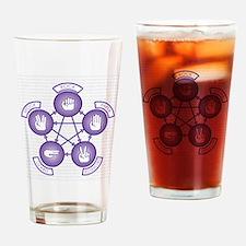 Roshambo Drinking Glass