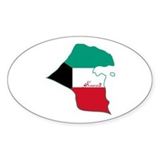 Cool Kuwait Oval Decal