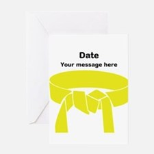 Yellow Belt Greeting Card