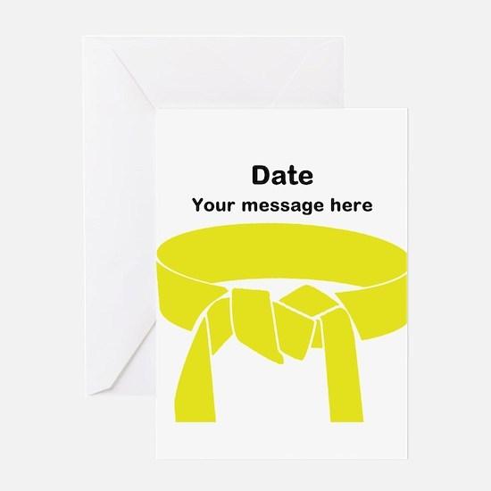 Yellow Belt Greeting Card