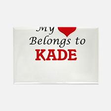 My heart belongs to Kade Magnets
