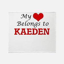 My heart belongs to Kaeden Throw Blanket