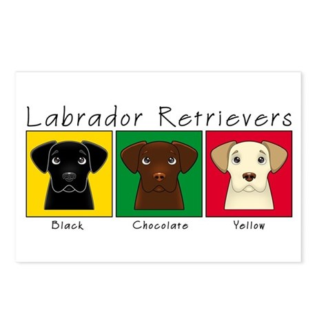 Three Labradors Postcards (Package of 8)