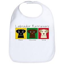 Three Labradors Bib