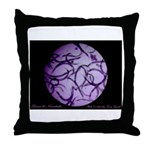 Dance de nematodes Throw Pillow