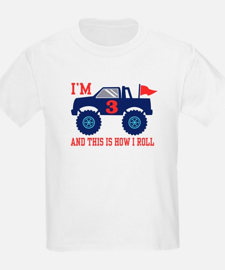 3rd Birthday Monster Truck T-Shirt