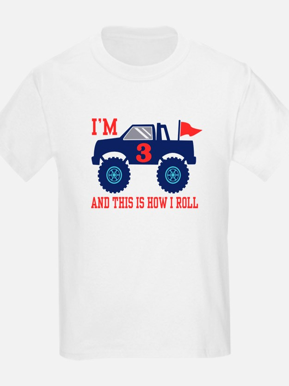 3rd Birthday Monster Truck T-Shirt