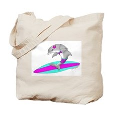 Surfing Dolphin Tote Bag