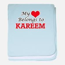My heart belongs to Kareem baby blanket