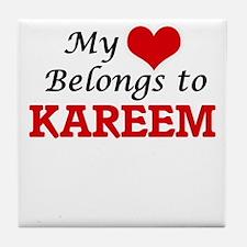 My heart belongs to Kareem Tile Coaster