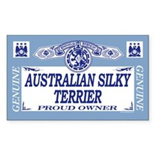 AUSTRALIAN SILKY TERRIER Rectangle Decal