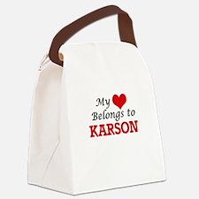 My heart belongs to Karson Canvas Lunch Bag