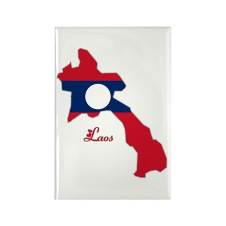 Cool Laos Rectangle Magnet (10 pack)