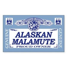 ALASKAN MALAMUTE Rectangle Decal
