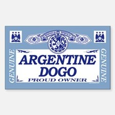 ARGENTINE DOGO Rectangle Decal