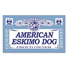 AMERICAN ESKIMO DOG Rectangle Decal