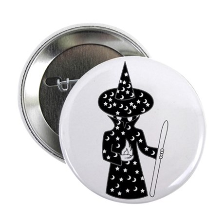 """Inexplicably Faceless Wizard 2.25"""" Button (100 pac"""