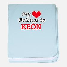 My heart belongs to Keon baby blanket