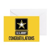 Army boot camp graduation Greeting Cards (10 Pack)