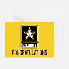 U.S. Army: Congratulations (Black & Greeting Card