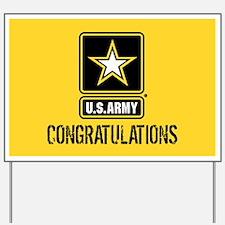 U.S. Army: Congratulations (Black & Gold Yard Sign