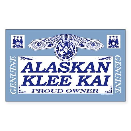 ALASKAN KLEE KAI Rectangle Sticker