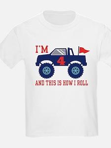 4th Birthday Monster Truck T-Shirt