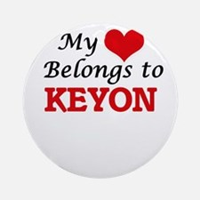 My heart belongs to Keyon Round Ornament