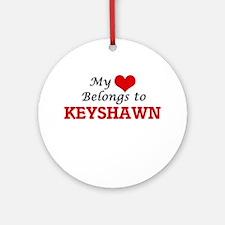 My heart belongs to Keyshawn Round Ornament