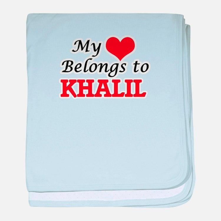 My heart belongs to Khalil baby blanket