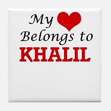 My heart belongs to Khalil Tile Coaster