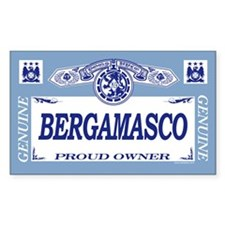BERGAMASCO Rectangle Decal
