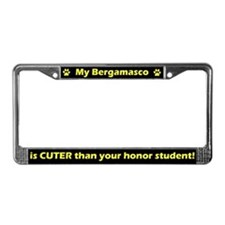 Honor Student Bergamasco License Plate Frame