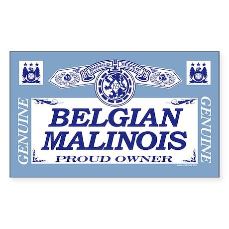 BELGIAN MALINOIS Rectangle Sticker