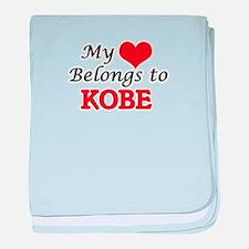 My heart belongs to Kobe baby blanket