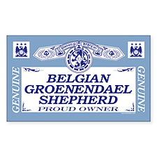 BELGIAN GROENENDAEL SHEPHERD Rectangle Decal