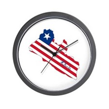Cool Liberia Wall Clock