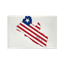 Cool Liberia Rectangle Magnet