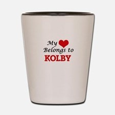 My heart belongs to Kolby Shot Glass