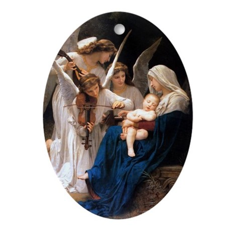 Hark The Angels Oval Ornament