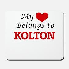 My heart belongs to Kolton Mousepad